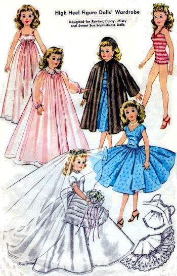 Pattern for Revlon, Cissy & Dollikin Dolls