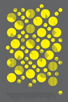everything is OK: Circles, Art Illustrations, Design Graphics, Art Design, Graphics Design, Dots, Gray Yellow, Neon Yellow, 103 Mine Studios