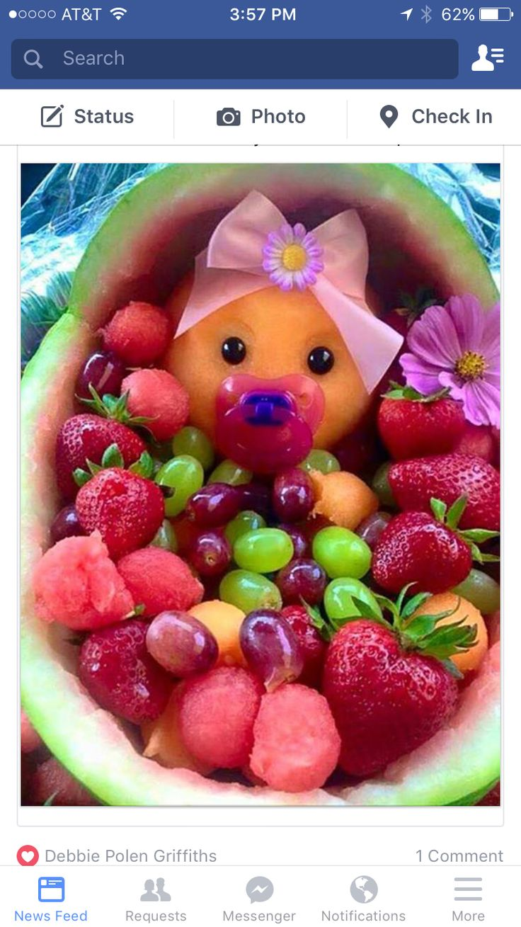 Baby Shower Fruit Basket