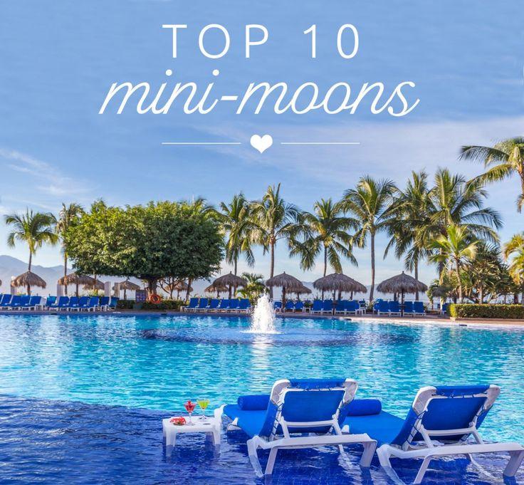 BridalPulse - Top Ten Mini-Moon Honeymoon  Destinations | Follow @BridalPulse for more wedding inspiration