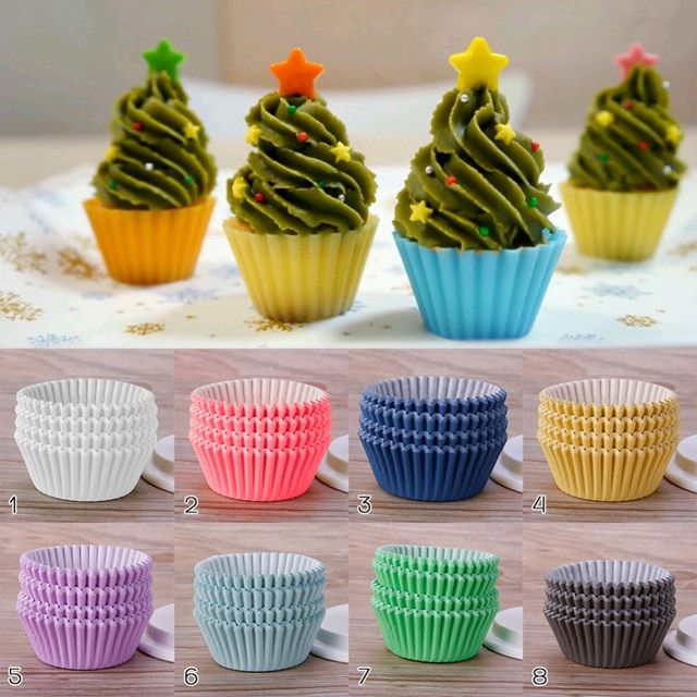 New Practical 100 Pcs Pack Liner Baking Cups Cupcake Paper Muffin