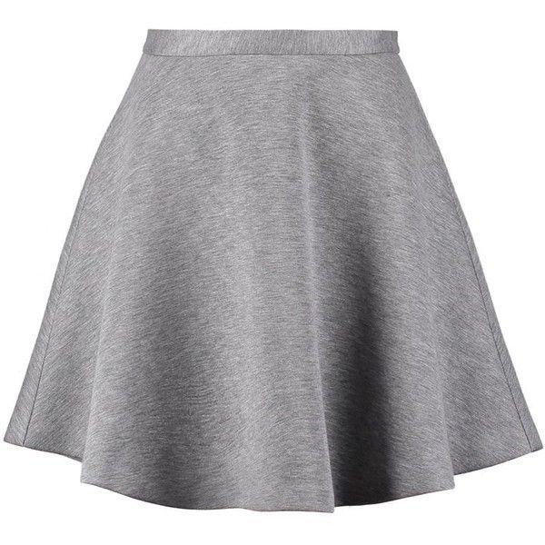 Tiger of Sweden ISELINE Mini skirt light stone grey (£120) ❤ liked on Polyvore featuring skirts, mini skirts, bottoms, saias, faldas, light grey, gray mini skirt, zipper mini skirt, short skirts and mini skirt