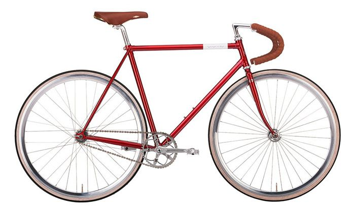 BIKE' Doppio Fixed Gear' red, by Creme Cycles