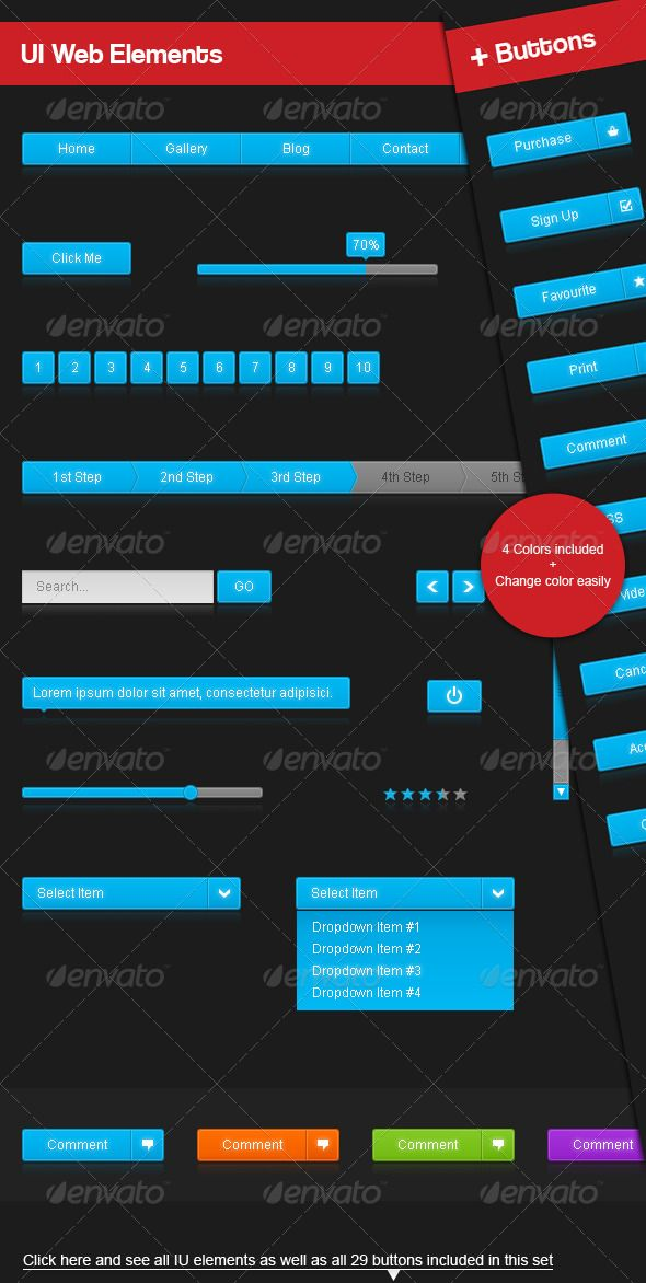 UI Web Elements and Buttons