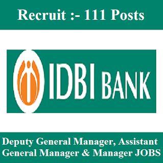 IDBI Bank Admit Card 2017   111 Posts   Managers Jobs   Sarkari Naukri