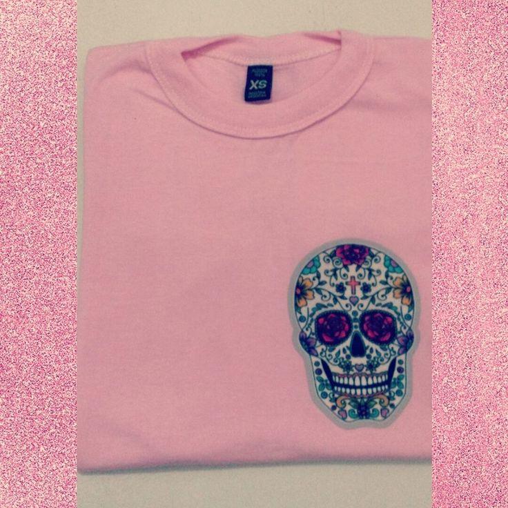 Remera Skulls Pink