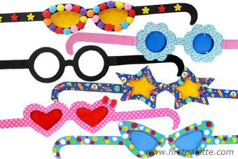 Choose from our 6 awesome printable frames to craft and decorate into cute paper eyeglasses.