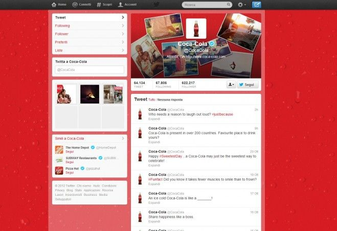 Coca Cola Twitter Cover, #brandcovertwitter #twittercocacola