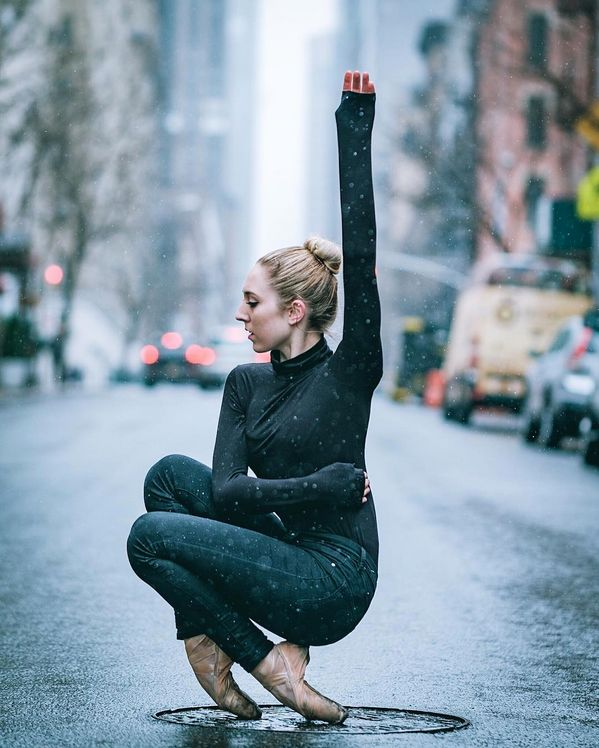 Pointe How ballerinas hail a cab.  (Mykaila Symes, photo by Omar Z Robles Photography)