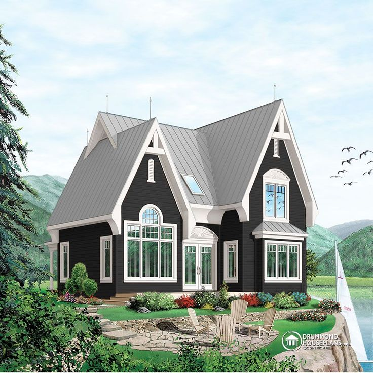 W3920 victorian inspired cottage with a rustic touch cathedral ceiling master bedroom on main floor