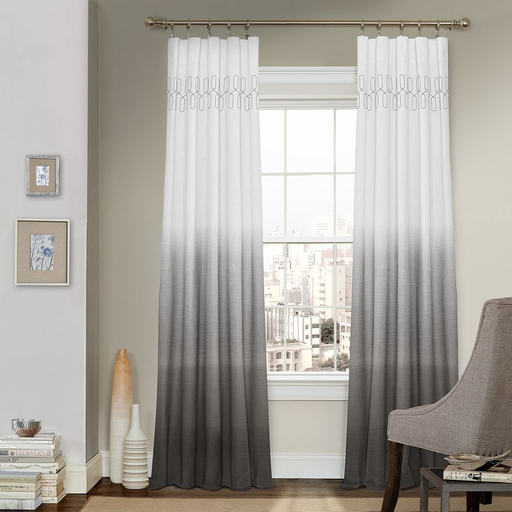 Arashi Ombre Embroidery Curtain Panel By Vue Signature