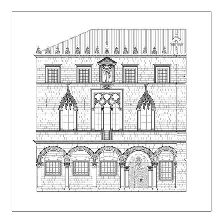 Sponza is part of Dubrovnik architecture collection. Built in the first half of 16th century by local builders, it is one of the most important buildings of Croatian architecture.