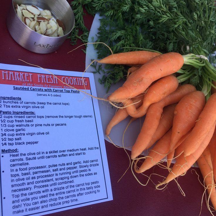 Sautéed Carrots with Carrot Top Pesto
