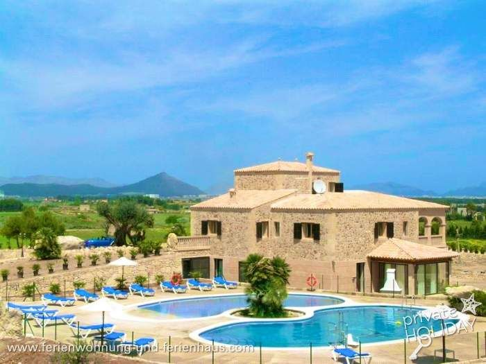 Strandnahe Finca mit sehr großem Privatpool bei Can #Picafort in #Mallorca