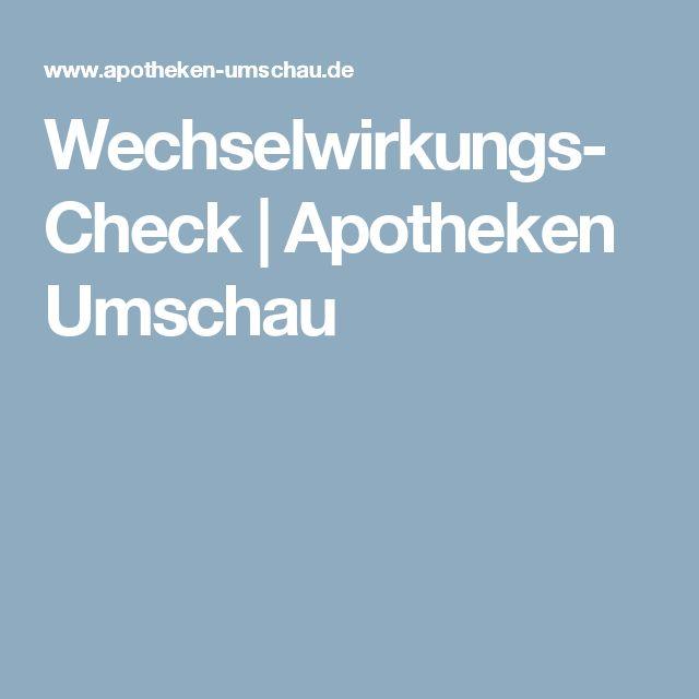 Wechselwirkungs-Check | Apotheken Umschau