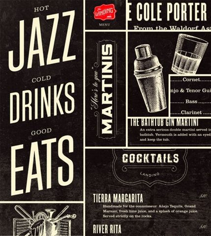 Hot Jazz, Cold Drinks, Good Typography.