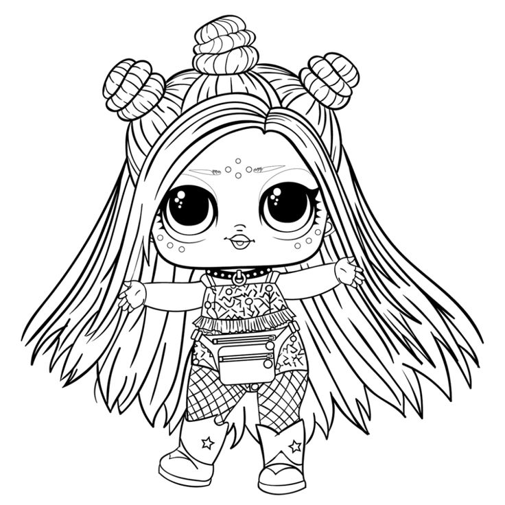 Раскраска для самых маленьких кукла лол