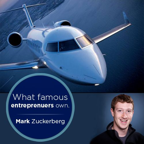 The youngest billionaire in the world, Mark Zuckerberg, owns a Accura TSX an entry level car as a means of his transport.  But did you know, that he also owns a $700,000 private jet?   So all you entrepreneurs out there, what fancy automotives do you own??