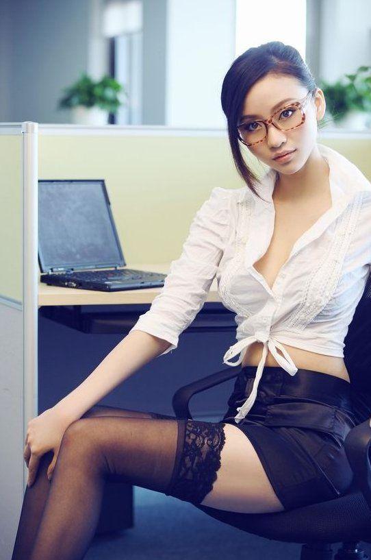 Asian babe secretary