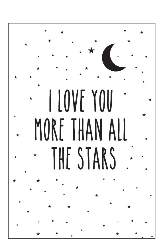 Eef Lillemor Poster - I Love You More - A3