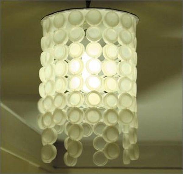 Luminária Tampas de garrafa