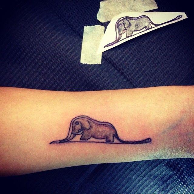 Piccolo Principe #piccolo principe #elephant #blackandgrey #inked #ink #tattoo #tattooconventionberlin #toniatutattootattooclubnoceto