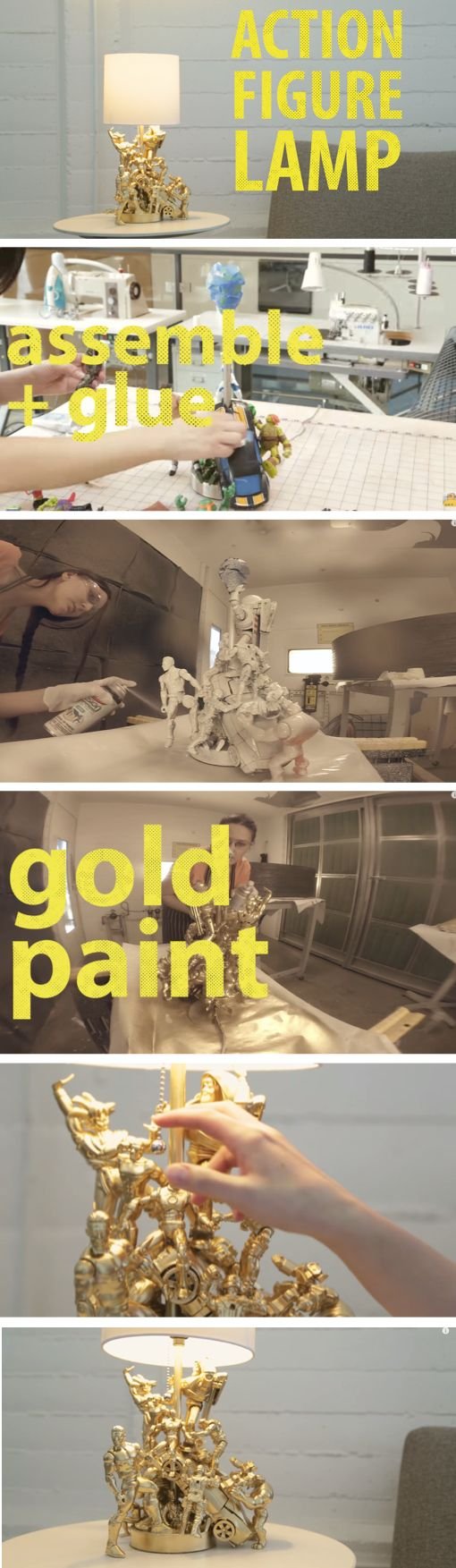 She Spray Paints Her Kids Old Toys Gold. The End Result? I Am So Doing This!