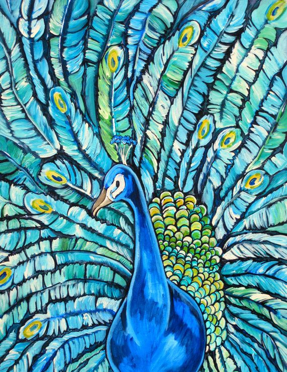 152 Best Images About Peacock Artwork On Pinterest
