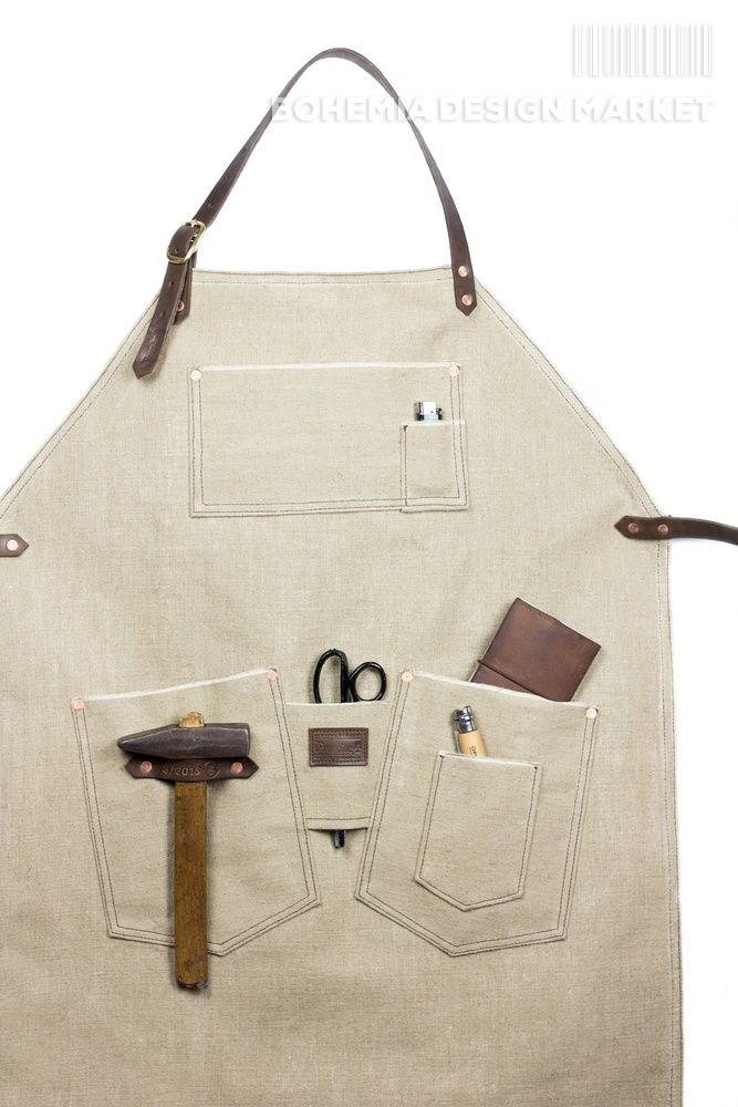 #apron #limited #edition #handmade #local #original #design #pocket #for #tools #leather #element #working #in #nature #with #style