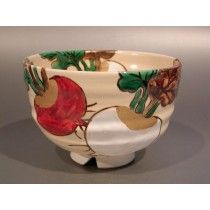 """GREEN TEA CUP """"RED AND WHITE TURNIP"""""""