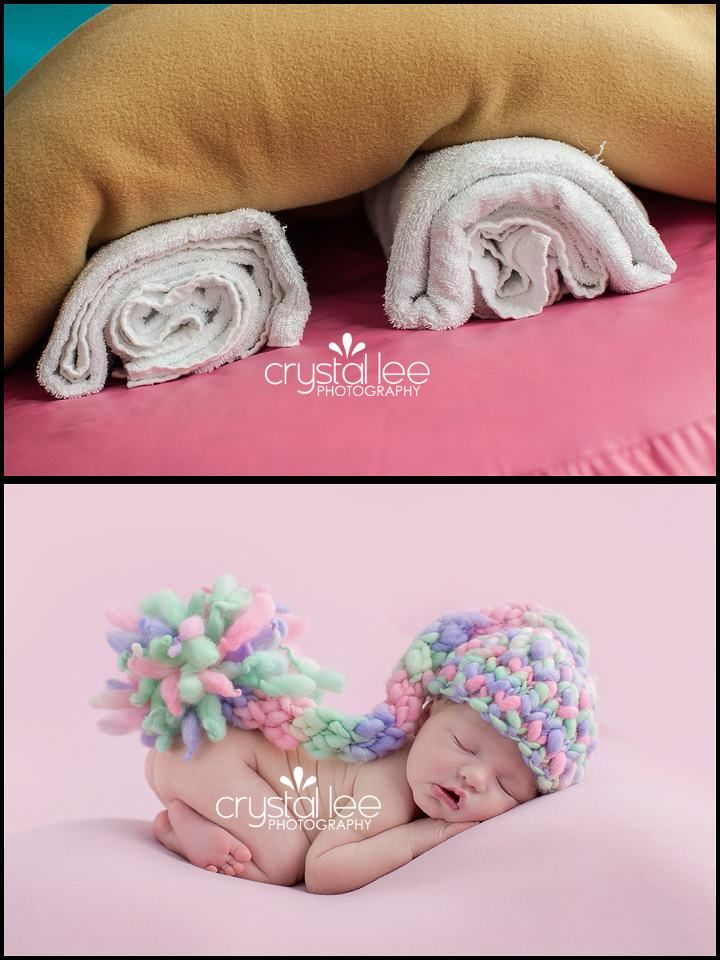 don't need overpriced posing pillows- just use rolled up towels underneath few layers of blankets https://www.facebook.com/CrystalLeePhotography