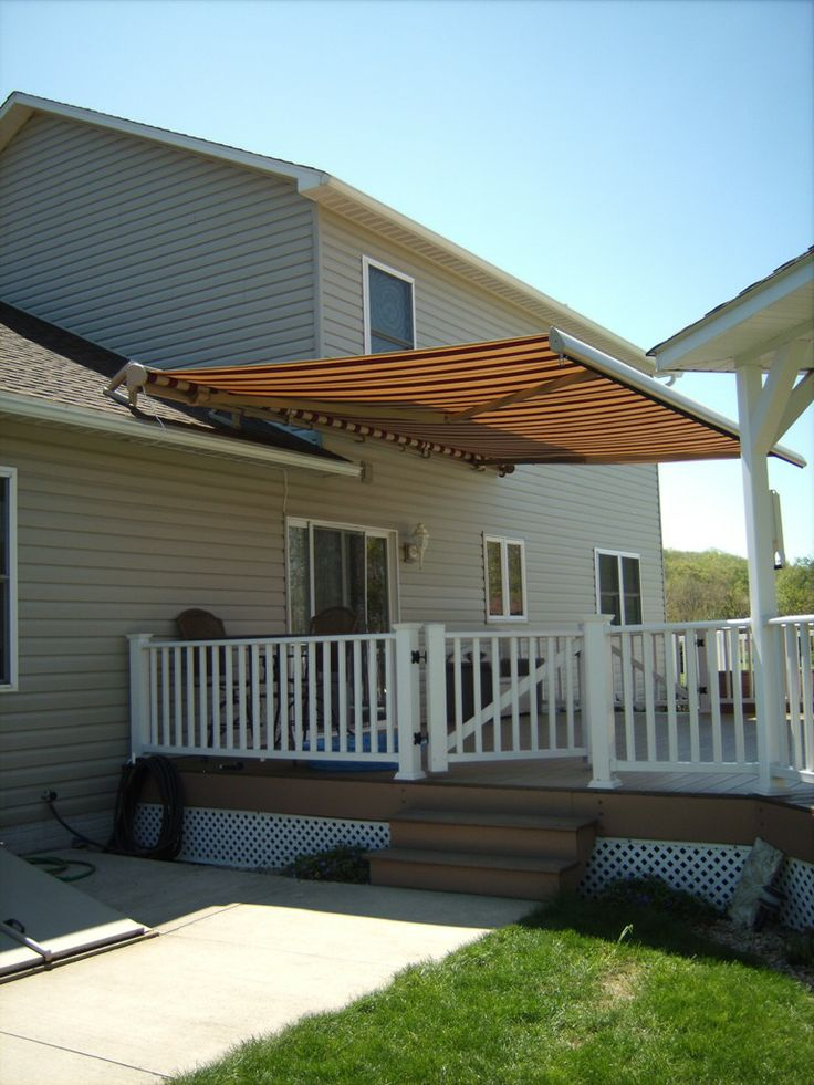 Difficult Awning Mount Not For Us Half Roof Mount Half Siding Mount Motorized Retractable