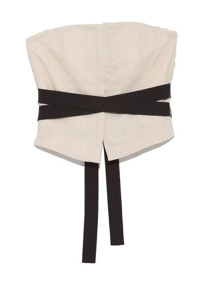 Linen corset(ビスチェ) styling/(スタイリング) ファッション通販 ウサギオンライン公式通販サイト