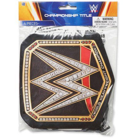WWE Chapion Title Award Belt, 4 Count, Party Supplies - Walmart.com