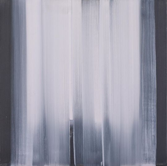 Rafał Bujnowski (Polish, b. 1974), Curtain, 2007. Oil on canvas, 50 x 50 cm.