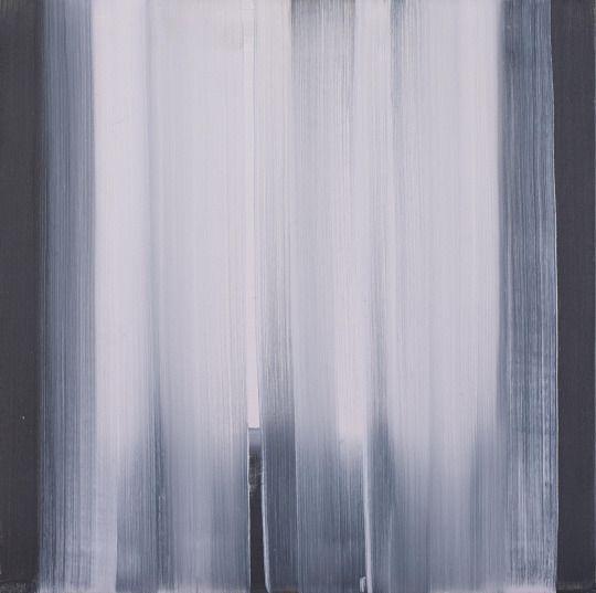Rafał Bujnowski (Polish, b. 1974), Curtain, 2007. Oil on canvas, 50 x 50 cm.