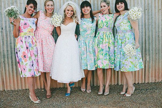 Vintage Inspired Bridesmaids Dresses by sohomode on Etsy, $150.00
