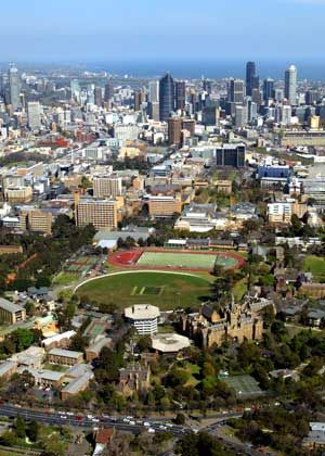 University of Melbourne, Ormond College (in foreground) | Flickr