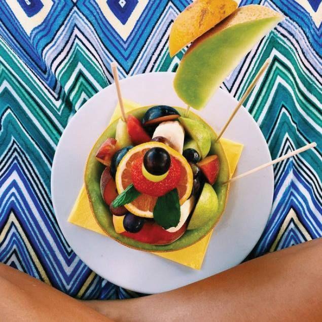 Seriously, what's better than a cool fruit salad?   #gmorning #sunny #day #fresh #fruitsalad #fruit #melon #orange #strawberry #love #beach #great #beachlife #kaluabeach #paragabeach #joinus #exotic #Mykonos #kaluamykonos