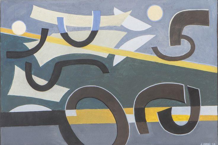 Sam Vanni, 1958, guassi, 29x41 cm - Hagelstam A148
