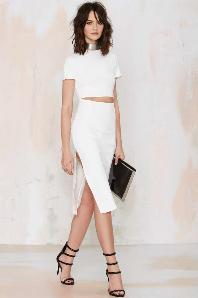 Nasty Gal Visionary Cutout Dress - LWD | Dresses | Day | Going Out | Midi + Maxi | Solid | Dresses