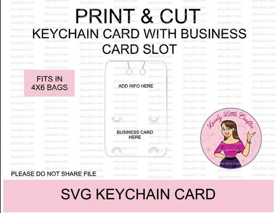 Svg Keychain Card Keychain Packaging Display Card With Etsy In 2021 Display Cards Keychain Display Cards