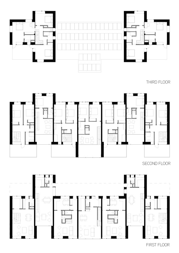 First / Second / Third floor - Individual houses