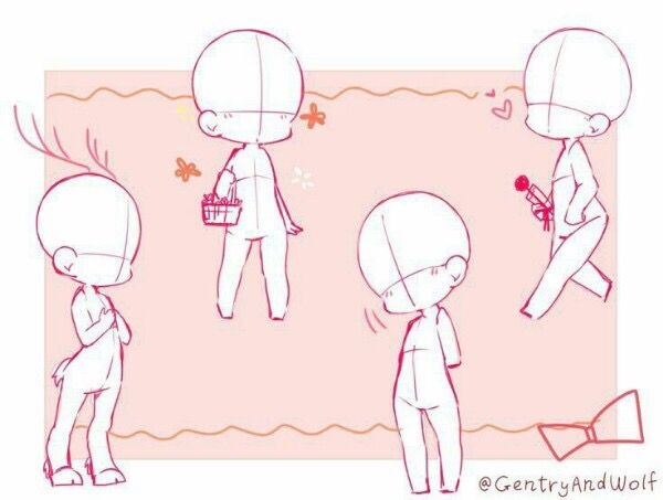 Pin By Will Cipfer On Tutorial Drawing Base Chibi Drawings Drawing Reference Poses
