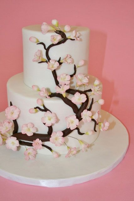 Wedding Cakes New Jersey Cherry Blossom Cake
