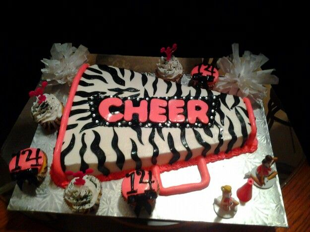 Megaphone cake- kari can we have an end of season party and make this cake?
