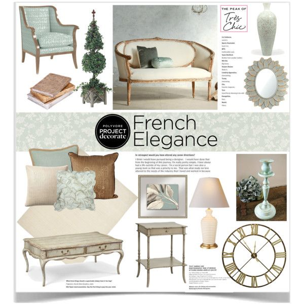 French Elegance With The Peak of Très Chic 1 by jpetersen on Polyvore featuring interior, interiors, interior design, home, home decor, interior decorating, Jonathan Charles Fine Furniture, Iconic Pineapple, Neera and Serena & Lily