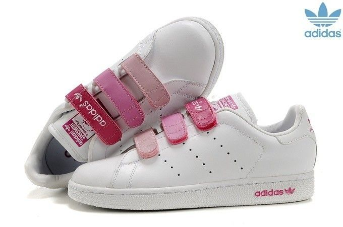 purchase cheap a4e97 29009 ... CF Womens Adidas Stan Smith Velcro HommeFemme Blanche Rose  Velcro   Pinterest  Adidas stan Adidas Stan Smith Pink ...