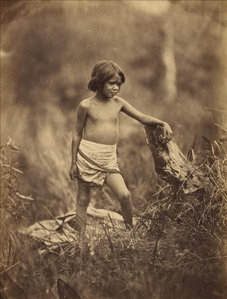 Portrait of a child [ca. 1858]. This image was taken by Antoine Fauchery and Richard Daintree between late 1857 and early 1859 for inclusion in their Photographic Series Sun Pictures of Victoria.