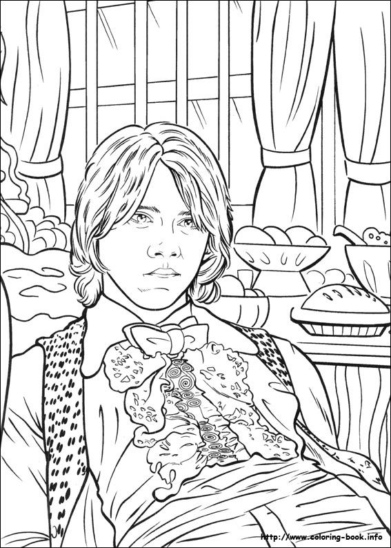Harry Potter and the Goblet of Fire (2000). Coloring Book Page.